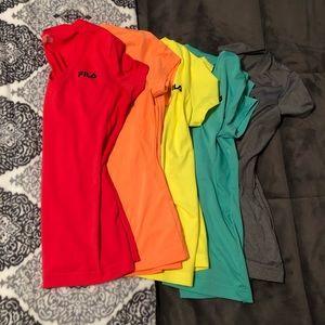 Fila Short sleeve athletic top 5 shirt lot